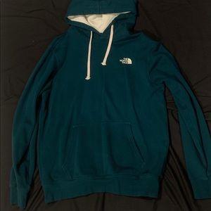 North Face hoodie/ dark green